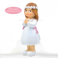 Figura Pastel Niña Comunión Ojitos 12,5 cms