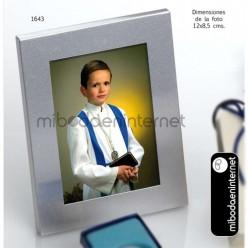 Portafotos Plateado 12 x 8.5 cms