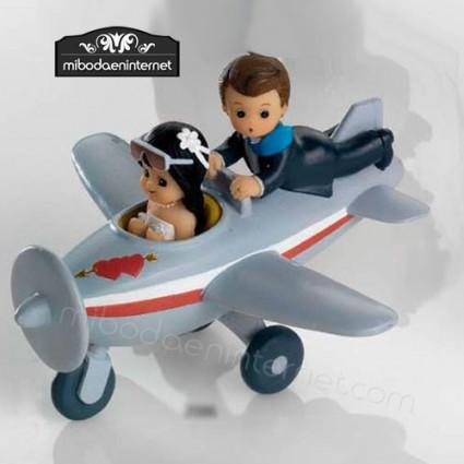 Figura Pastel Novios Volando