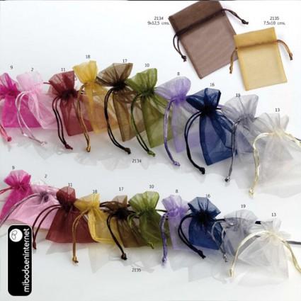 Bolsa Organza c/ Cordón 9 x 12.5 cms