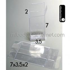 Caja Acetato Transparente Rectangular 7 x 3,5 x 2 cms