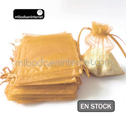 Bolsa Organza 12X18 ORO