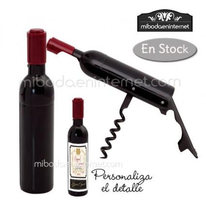 Abridor y Sacacorchos Forma Botella de Vino con imán