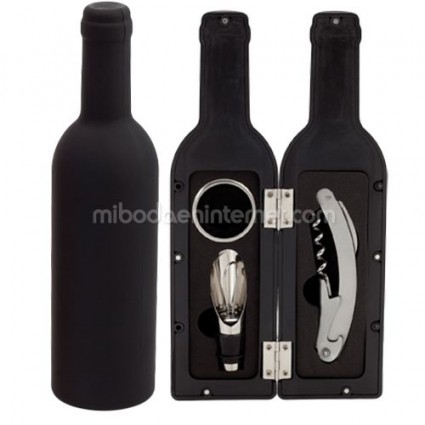 Set Vino Forma Botella