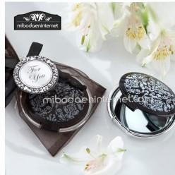 Espejos para regalo de boda mibodaeninternet for Espejo redondo negro