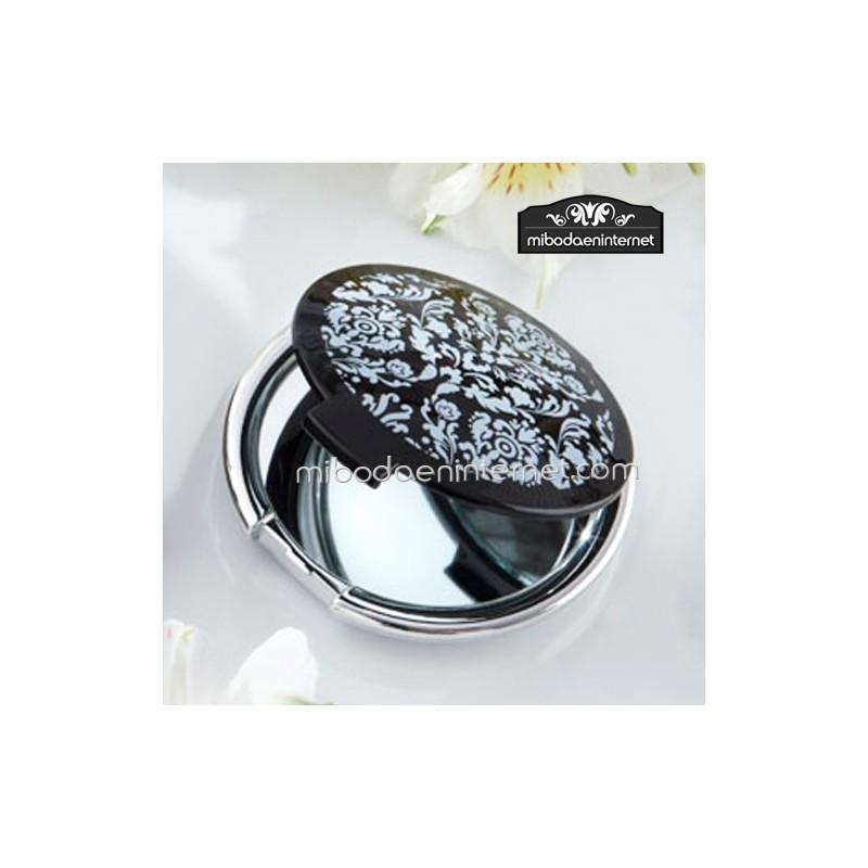 Espejo redondo negro modelo versalles for Espejo redondo negro