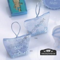 Bolsita Motivos bebé azul