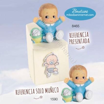 Niño bebé Bracitos Celeste 4.5 cms