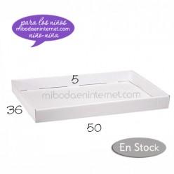 Bandeja cartón blanca básica grande