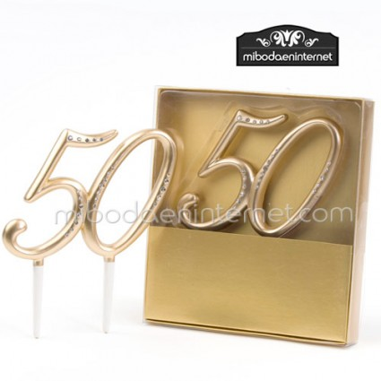 Figura para pastel 50 Aniversario Bodas Oro