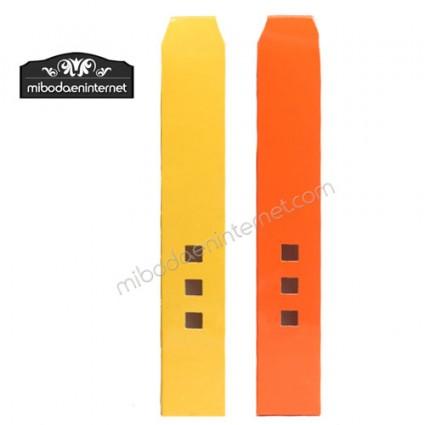 Caja Alta 3 ventanas color amarillo y naranja 19 x 3 x 2.5 cm