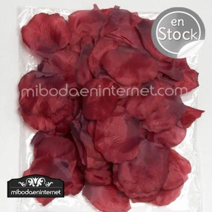 Pétalos Rosa color Burdeos 144 ud.