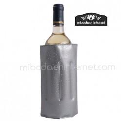 Enfriador botellas Vino plateado