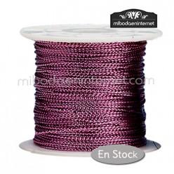 Cordón Color Metalizado Rosa Púrpura 1 mm - Rollo 100 mts