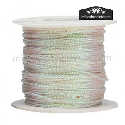 Cordón Color Metalizado Nácar 1 mm - Rollo 100 mts