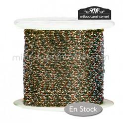 Cordón Color Metalizado Multicolor 1 mm - Rollo 100 mts