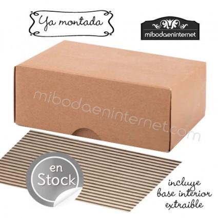 Caja Cartón Rectangular Reciclada 10x7x4