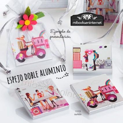 Espejo doble aluminio modelo Chicas