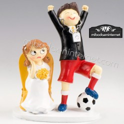 Figura Pastel Novios Pop & Fun Futbol