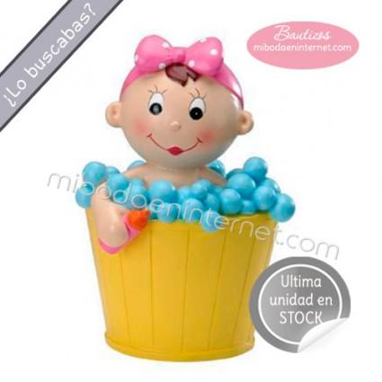Oferta-Figura Pastel Bautizo Niña Susan 18 cm Hucha