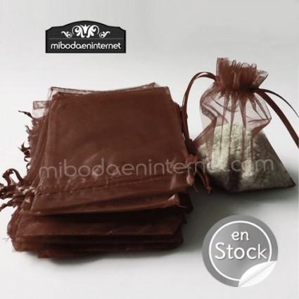 Bolsa Organza 12x17,5 CHOCOLATE