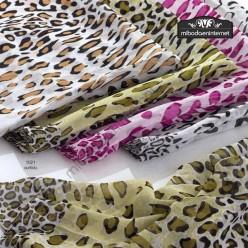 Echarpe estampado Leopardo