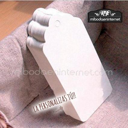 Tarjetas Kraft Cartón Blanco 50ud