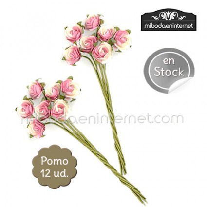 Flor rosa de papel en dos tonos