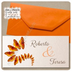 Invitación Boda Crescendo Rectangular