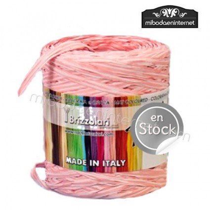 Rafia Bicolor Rosa y Blanca - precio por metro