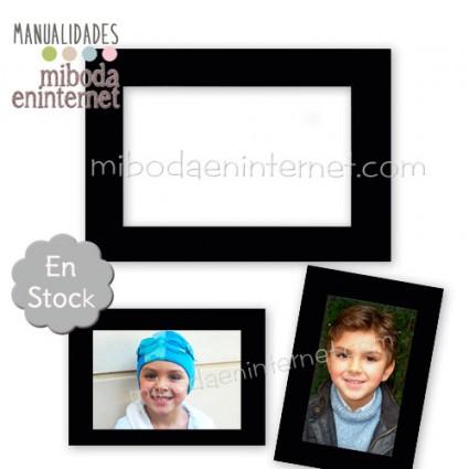 Portafotos Iman Negro para 9x13