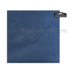 Sobre 17x17 Metalizado Azul Lapizlázuli