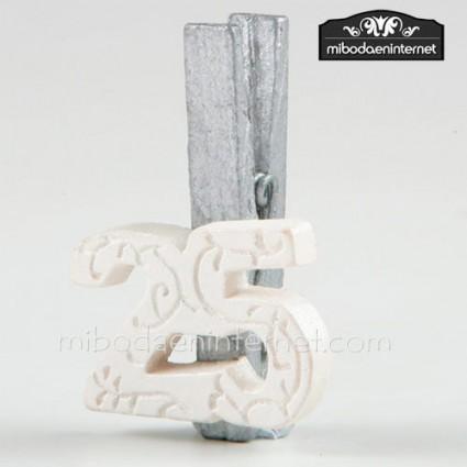 Pinza 25 Aniversario Bodas de Plata