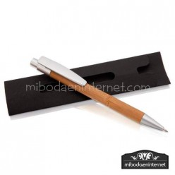 Bolígrafo Bambú con Funda