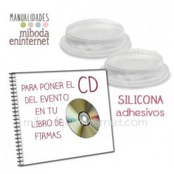 Centro de silicona transparente adhesivo para CDs
