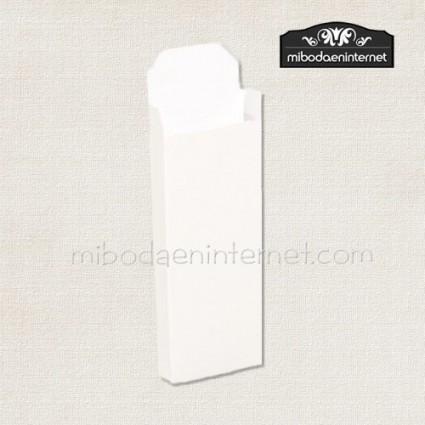 Caja cartón cigarrillos blanca 8,5x3,5x1