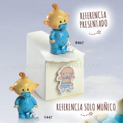 Niño Bebé Chupete Celeste 6 cms