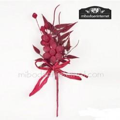 Ramillete Rosa Cristalino 13 cms