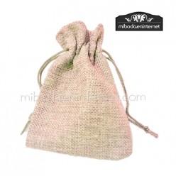 b78cca95d Bolsas de Algodón, yute, arpillera lisas o decoradas para regalos de ...