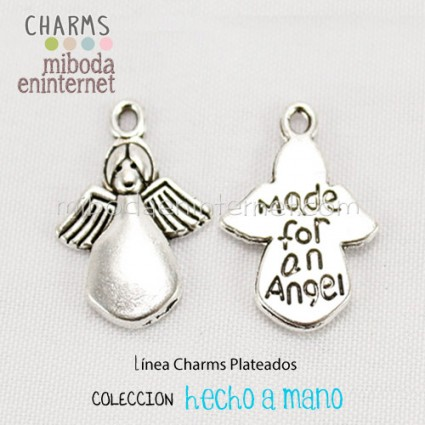 Charm Angel plata Made for an angel 18x13mm