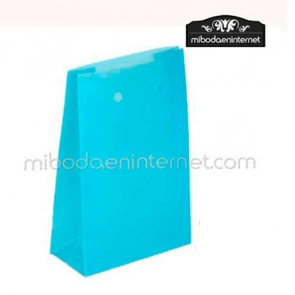 Caja Baja PVC Azul Turquesa 6.5x3x10 cm
