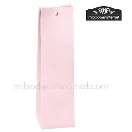 Caja alta cartón lisa rosa claro 13x3,5x3,5