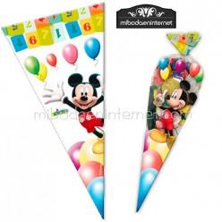 Bolsa Celofán Cono Mickey 30x60