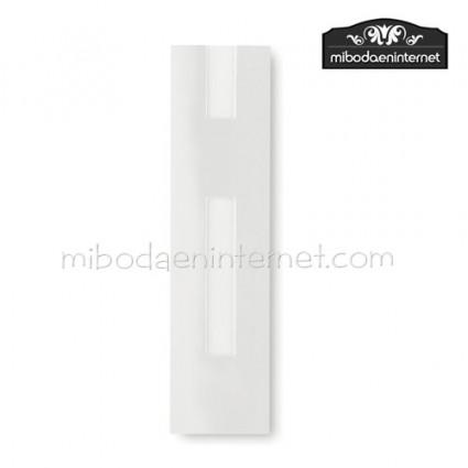 Funda Bolígrafo cartón 4x16 blanco