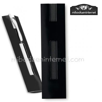 Funda Bolígrafo cartón 4x16 negro