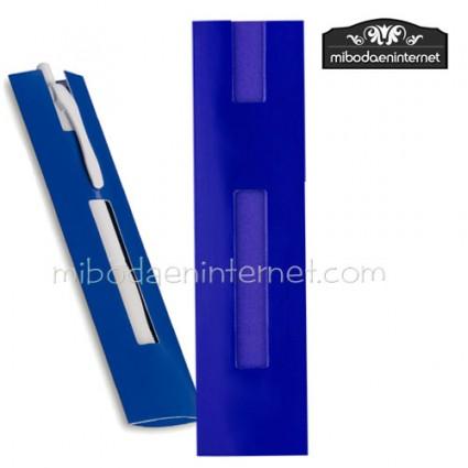Funda Bolígrafo cartón 4x16 azul