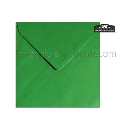 Sobre Cuadrado 15,5 Color Verde Hierba - SWQC19