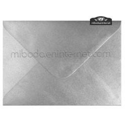 Sobre Metalizado Plata 13,4 x 18,5 cm