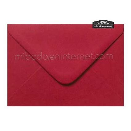 Sobre Color Rojo Carmín 13,4 x 18,5 cm