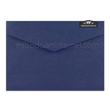 Sobre c5 azul marino con solapa pico diamante